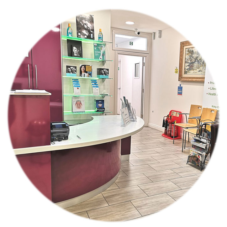 GP reception area, Teddington clinic
